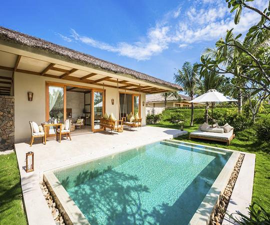 Villa 1 phòng ngủ có hồ bơi - Bao gồm tất cả trị liệu Spa
