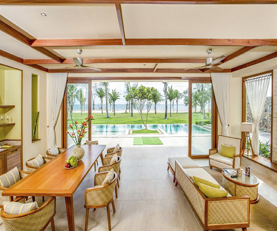 Villa biển 2 phòng ngủ có hồ bơi - Bao gồm tất cả trị liệu Spa