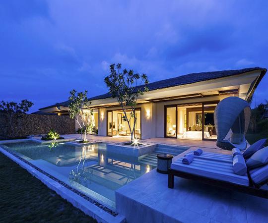 Villa sông 2 phòng ngủ có hồ bơi - Bao gồm tất cả trị liệu Spa